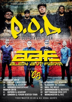 P.O.D. and Alien Ant Farm at the O2 Academy Bristol - Live Music Review