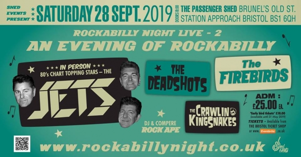 Rockabilly Live Night at The Passenger Shed on Saturday 28th September 2019