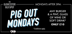 Pig Out Mondays at The Gloucester Old Spot in Bristol - 20 March 2017
