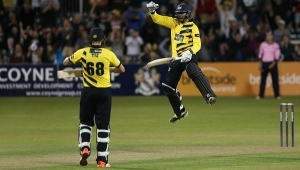 T20 Cricket Gloucestershire vs Somerset in Bristol