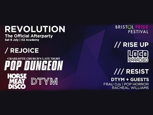 Revolution Bristol Pride Afterparty at O2 Academy in Bristol on 8 July 2017
