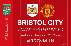 Bristol City vs Manchester United on Wednesday 20th December 2017