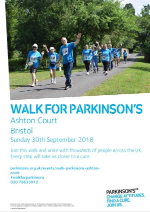 Walk For Parkinson's at Ashton Court on Sunday 30th September 2018