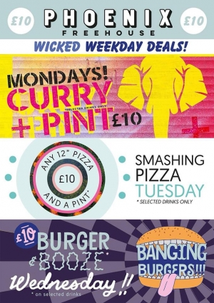 Burger and Booze Wednesdays at The Phoenix Pub Bristol on 10 April 2019