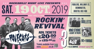 Rockabilly Live's Rockin' Revival at Fiddlers on Saturday 19th October 2019