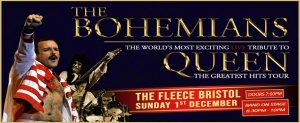 The Bohemians – A Tribute To Queen at The Fleece in Bristol on Sunday 01 December 2019