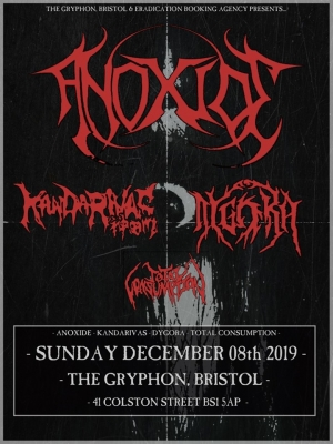 Anoxide, Kandarivas, Dygora & Total Consumption at The Gryphon in Bristol on Sunday 8 December 2019