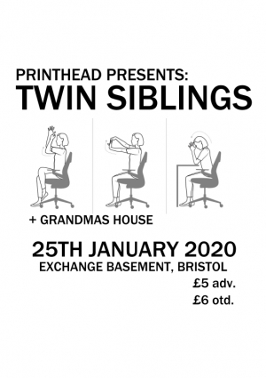 Twin Siblings  at Exchange in Bristol on Saturday 25 January 2020