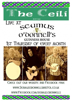 The Ceili Seamus at Seamus O'Donnell's in Bristol on Thursday 24 October 2019