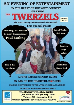 The Twerzels live at The Redgrave Theatre on Sunday 26th January 2020