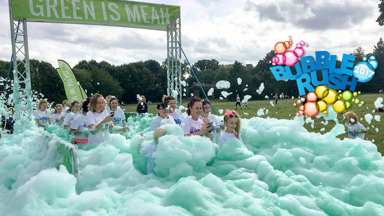 Children's Hospice South West Bubble Rush in Bristol on Saturday 2 September 2017