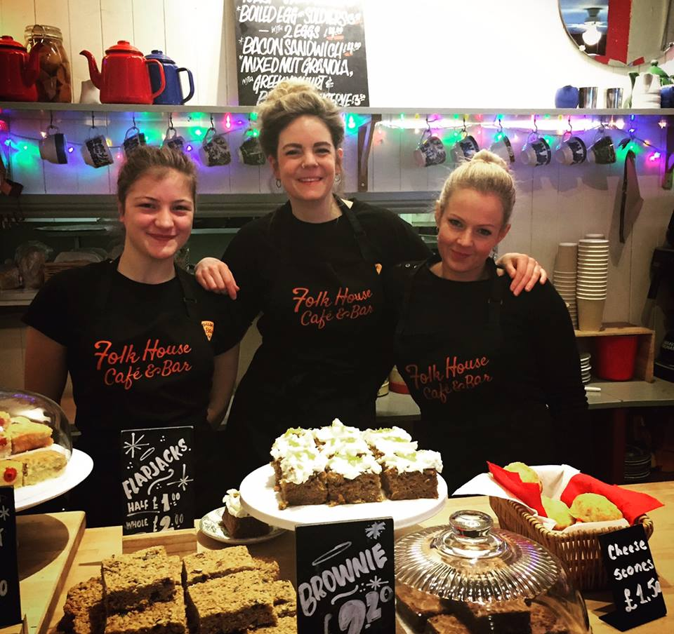 Some of the great staff at The Folk House Café and Bar, Bristol