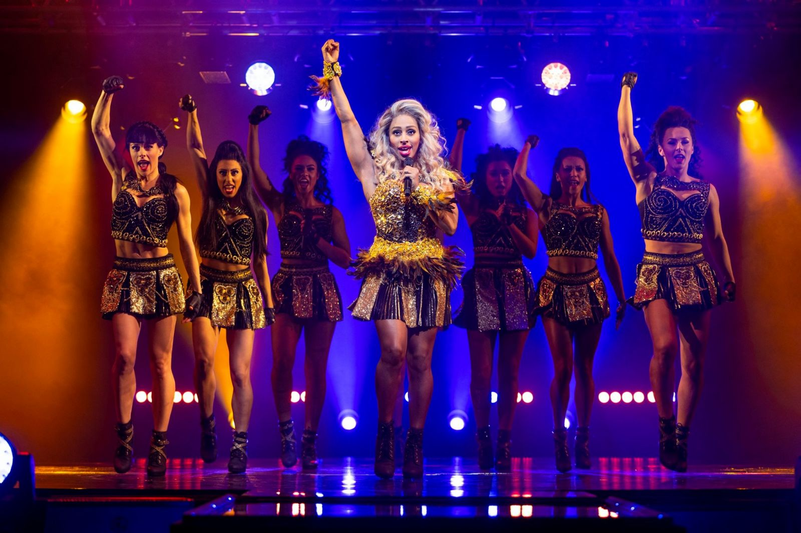 Alexandra Burke performing in The Bodyguard