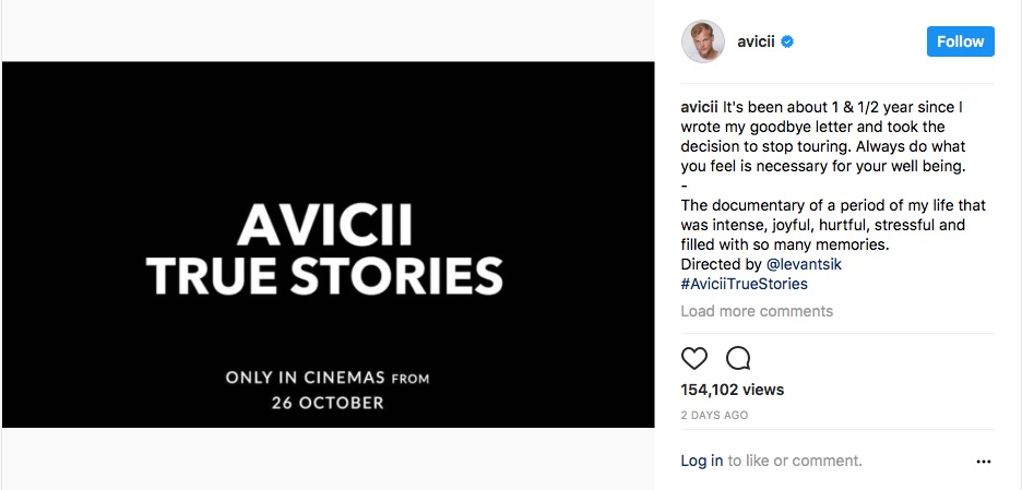 Avicii announces new documentary