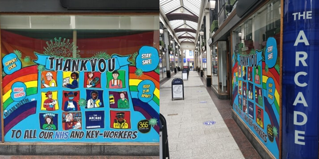 A new mural has appeared in The Arcade