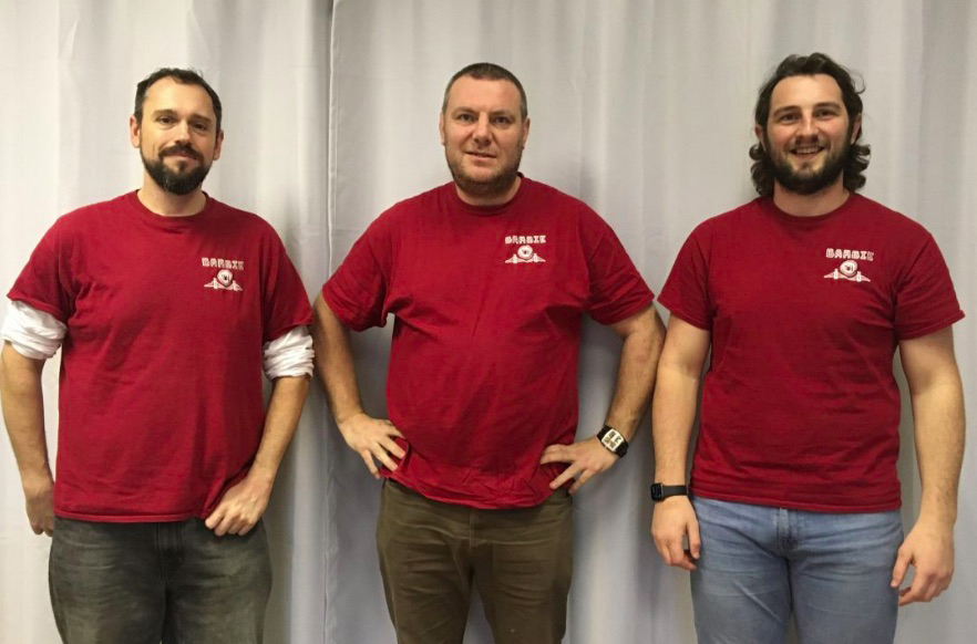 The BARBI Team (left to right) - Andy Dodd, Brendan Murphy and Adam Brittain. Photo: Jess Connett