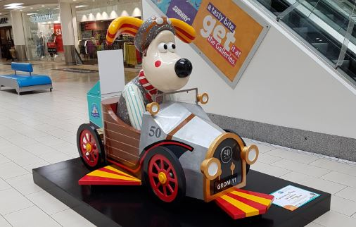 Get down to The Galleries to find their very own Gromit sculpture.