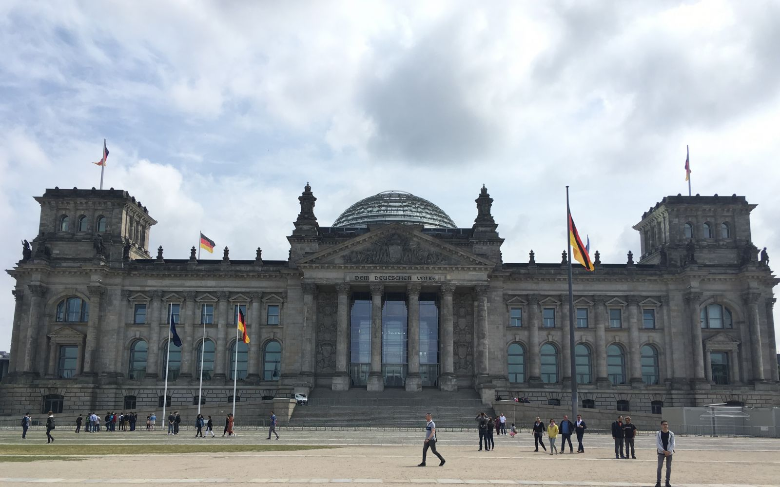 Outside the Reichstag.