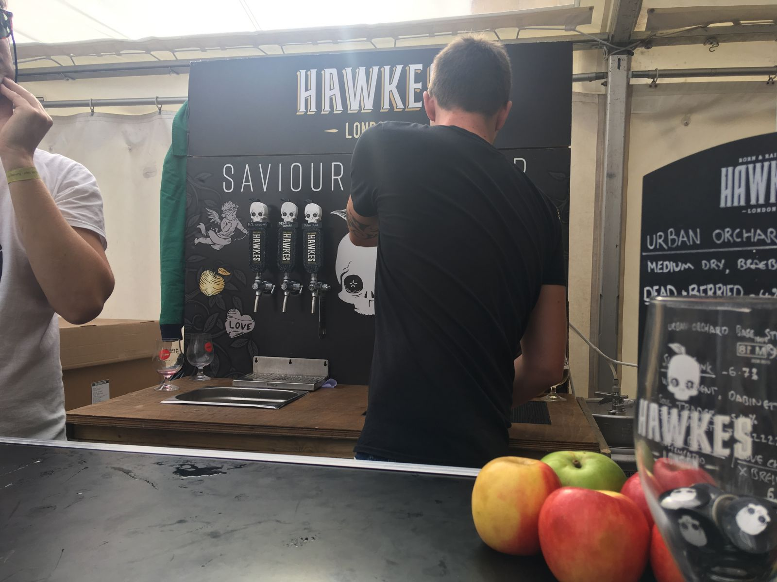 Hawkes' kept us coming back for more with their great range of delicious ciders.