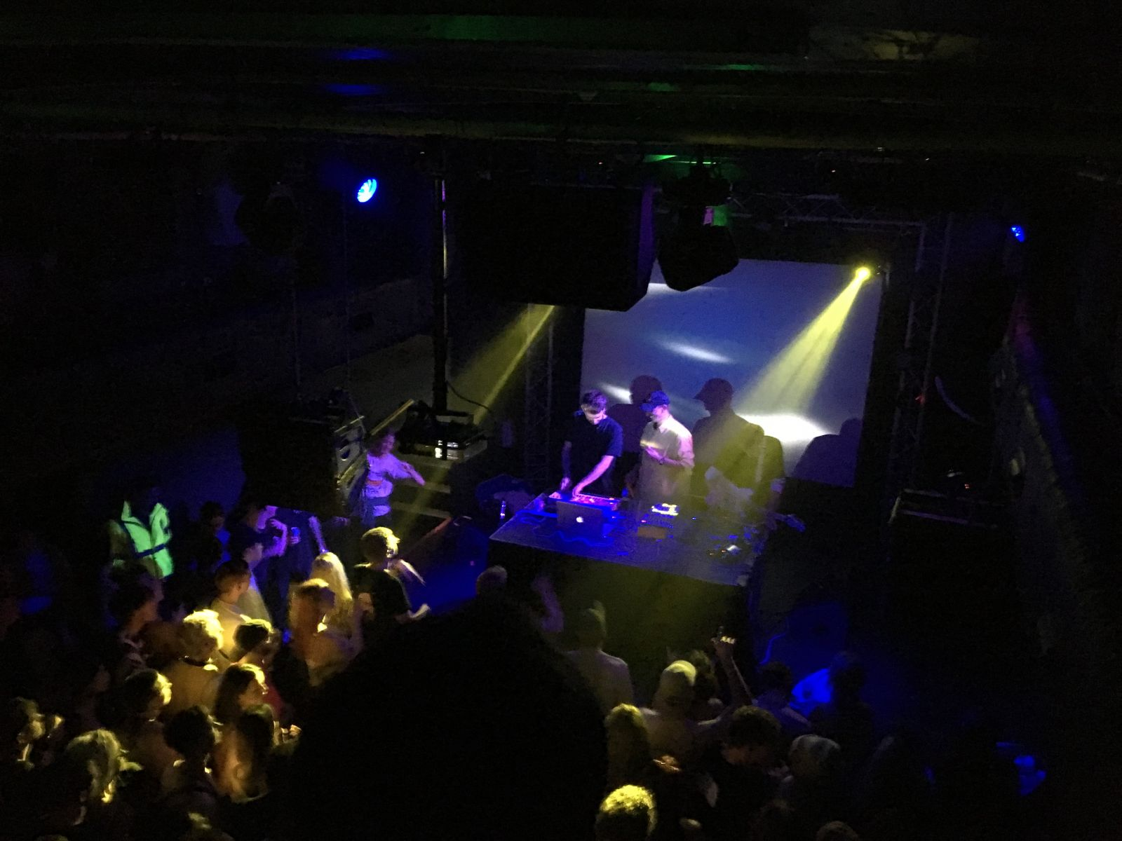 The Ross From Friends three-piece live show in action at Thekla.