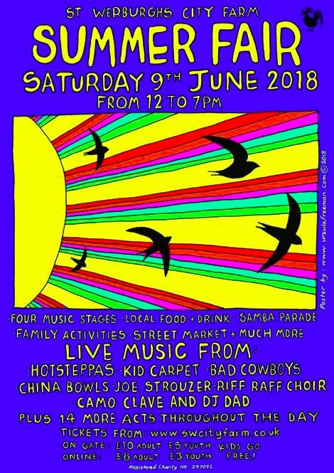 St Werburghs City Farm Summer Fair on Saturday 9th June 2018