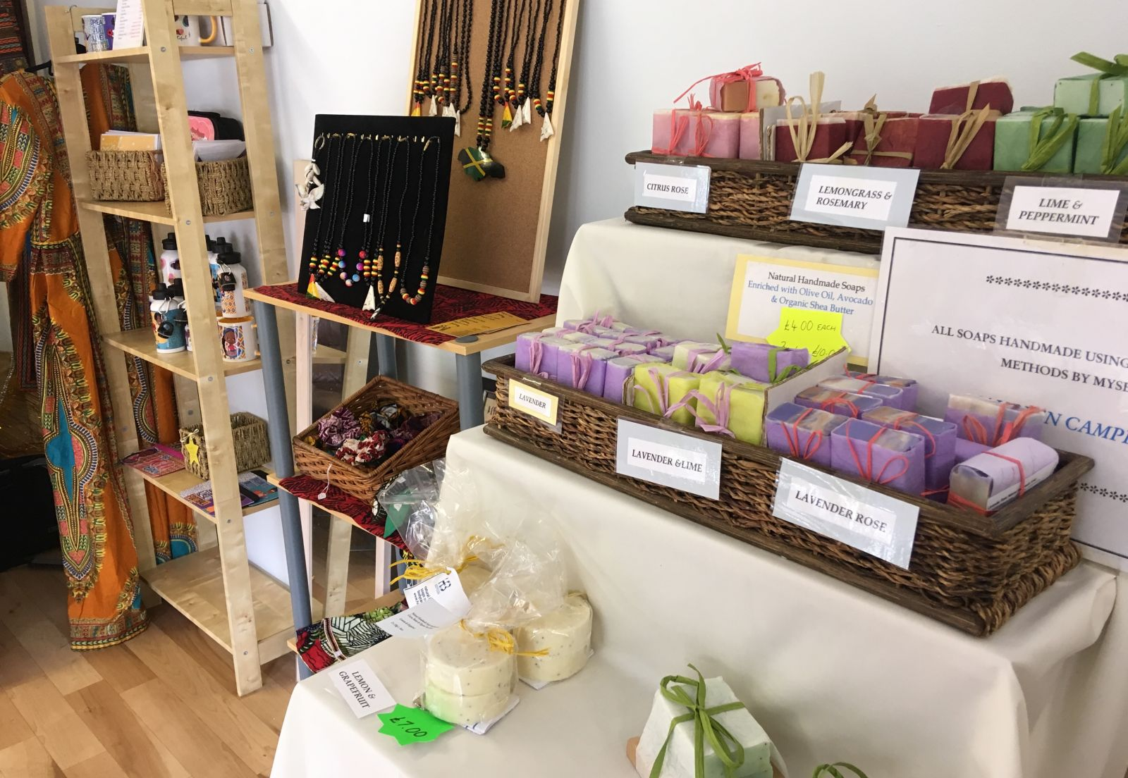 Some of the products at the 2019 St Paul's Carnival pop-up shop.