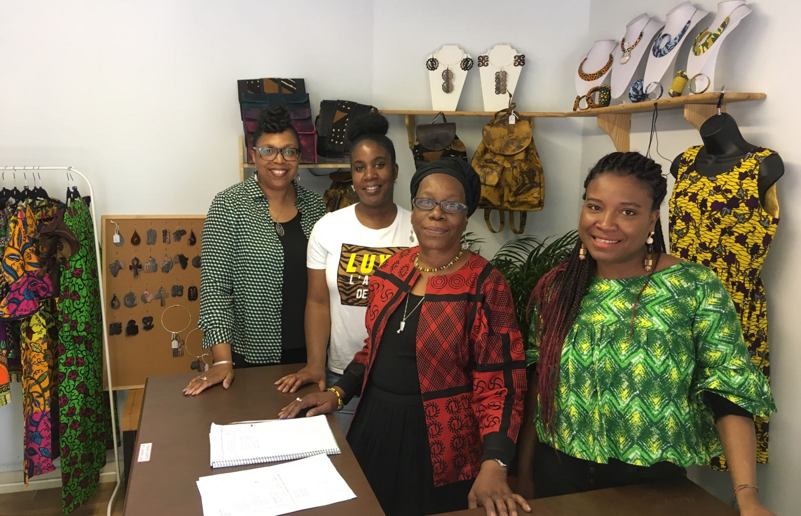 Sandra Gordon (left) and her team open the 2019 St Paul's Carnival pop-up shop.