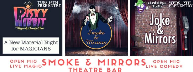 Smoke & Mirrors bar will introduce two brand-new shows to their lineup next week.