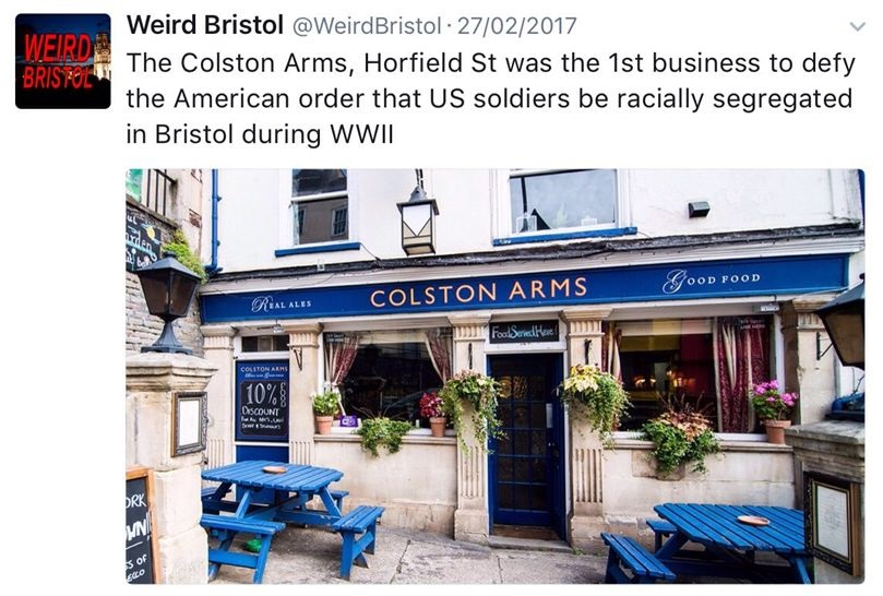 Getting To Know Bristol - Weird Bristol  - The Colston Arms