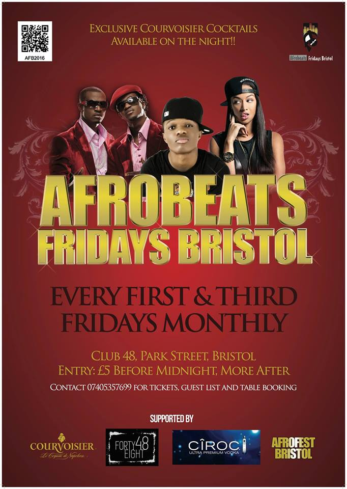 Afrobeats Fridays Bristol at Club 48 on Park Street - 1st and 3rd Fridays each month