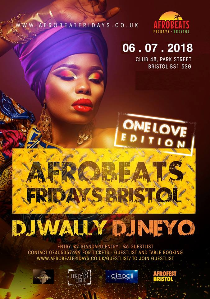 This week's Afrobeats Fridays party is the perfect warmup for St Paul's Carnival.