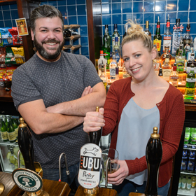 Duck and Willow owners Amy Devenish and Tom Brownell