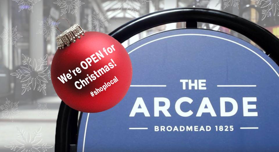 The Arcade at Christmas.