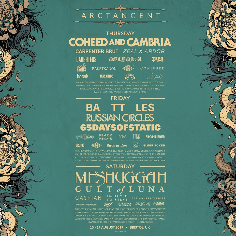 The full ArcTanGent Festival 2019 lineup.