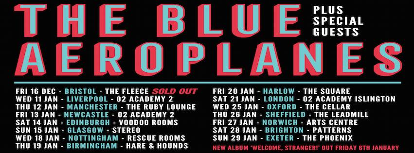 The Blue Aeroplanes - January 2017 UK Tour