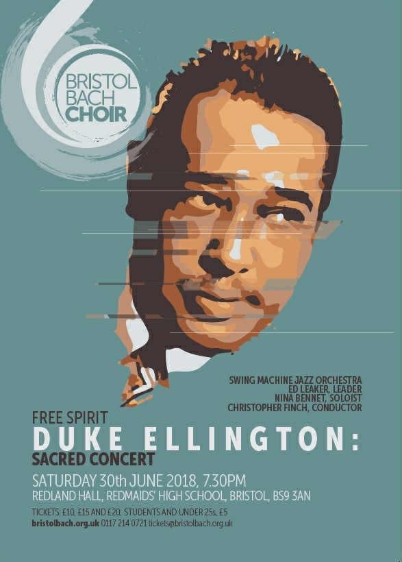 The poster for Saturday's Duke Ellington: Sacred Concert show at Redland Hall in Bristol.