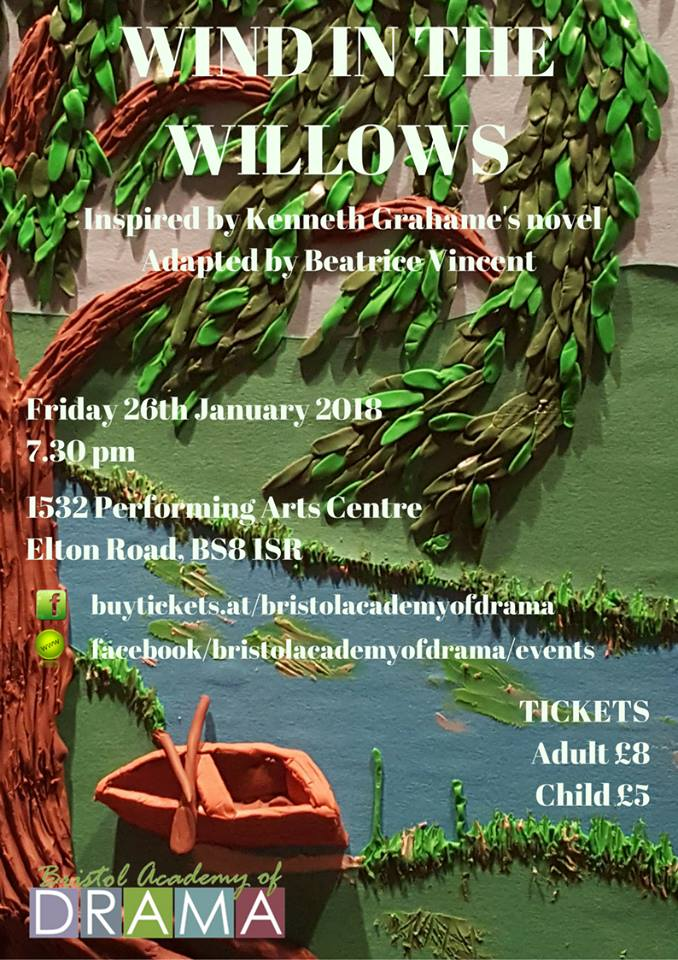 Wind in the Willows will be performed on stage by students in school years 7-9