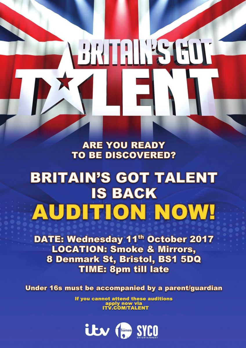 BGT auditions at Smoke and Mirrors