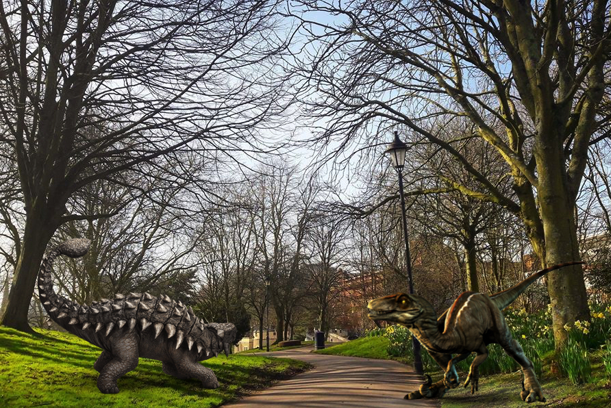 Dinosaurs in Castle Park