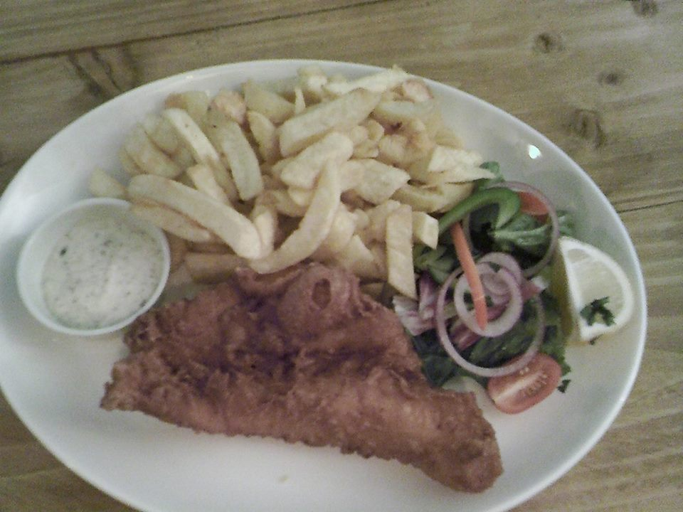 Fish and Chips in Bristol at Catch 22 on College Green