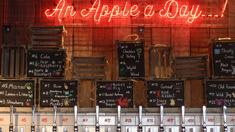 The Cider Press offers a wide range of beers and ciders at decent prices