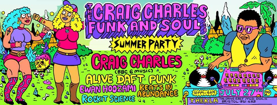 BBC 6 Music resident Craig Charles will be spinning his beloved funk n soul classics at Thekla this month.