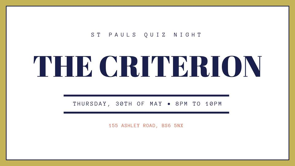 The Criterion Pub Quiz.