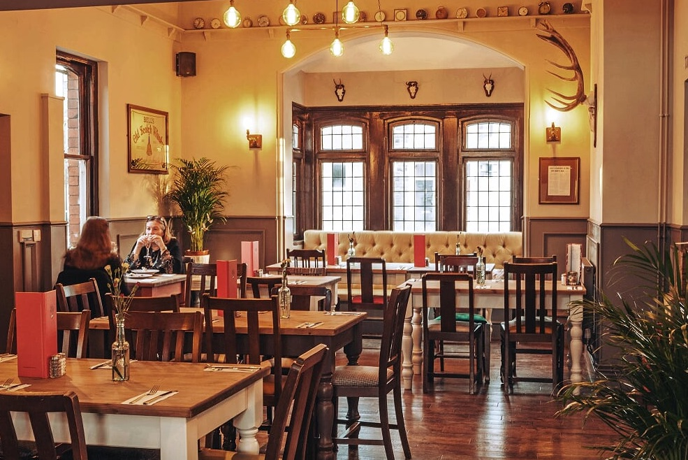 Inside The Duck and Willow in Downend, Bristol