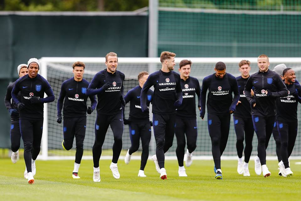 England train ahead of their clash with Croatia. Image: England Football Team