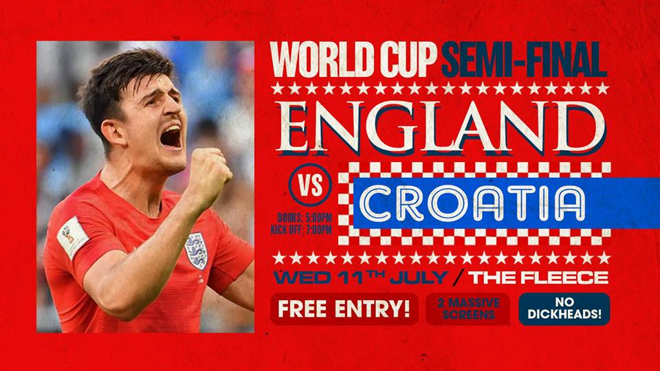 England v. Croatia at The Fleece.