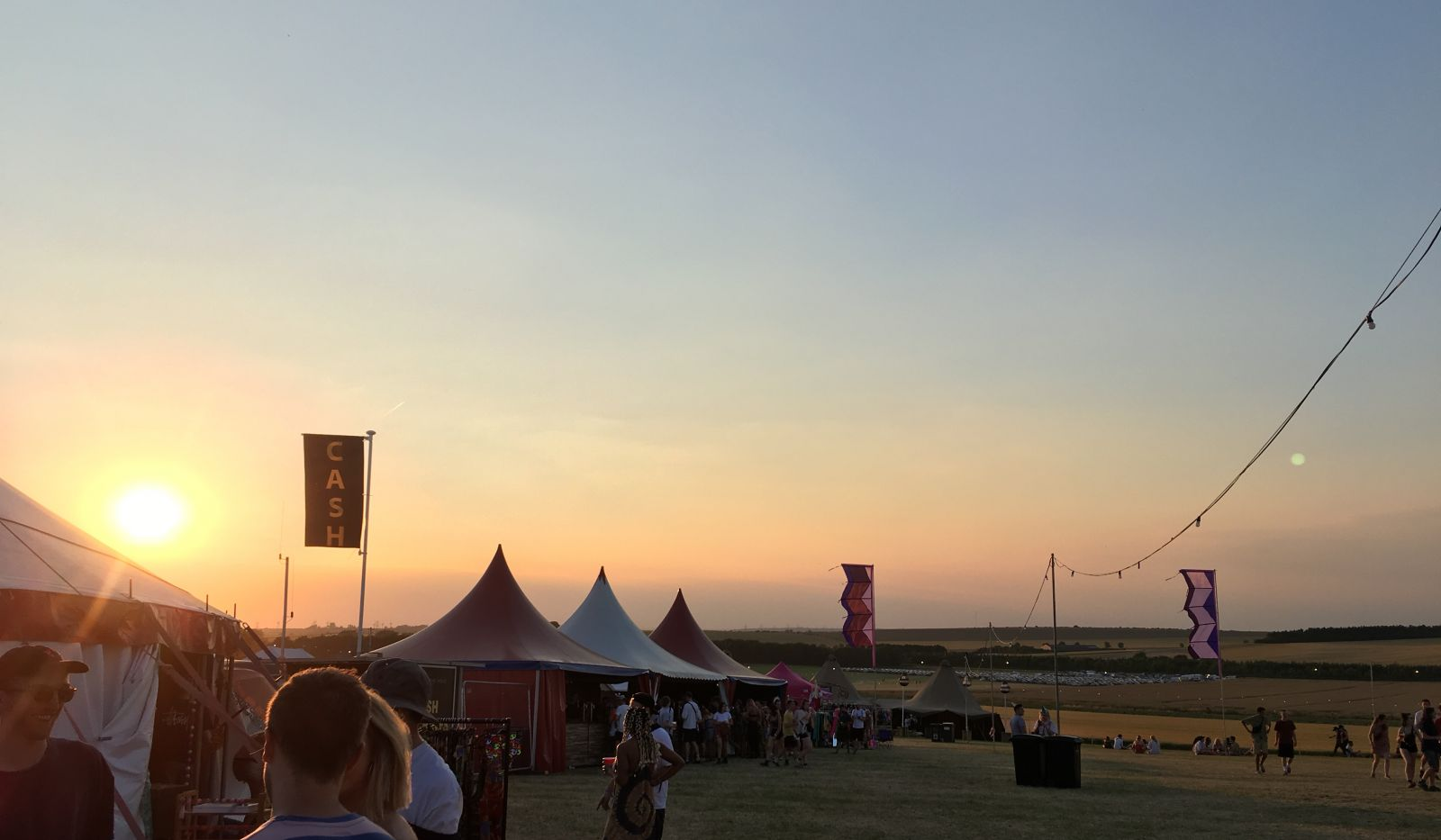 The sun sets over the beautiful Farr Festival site.