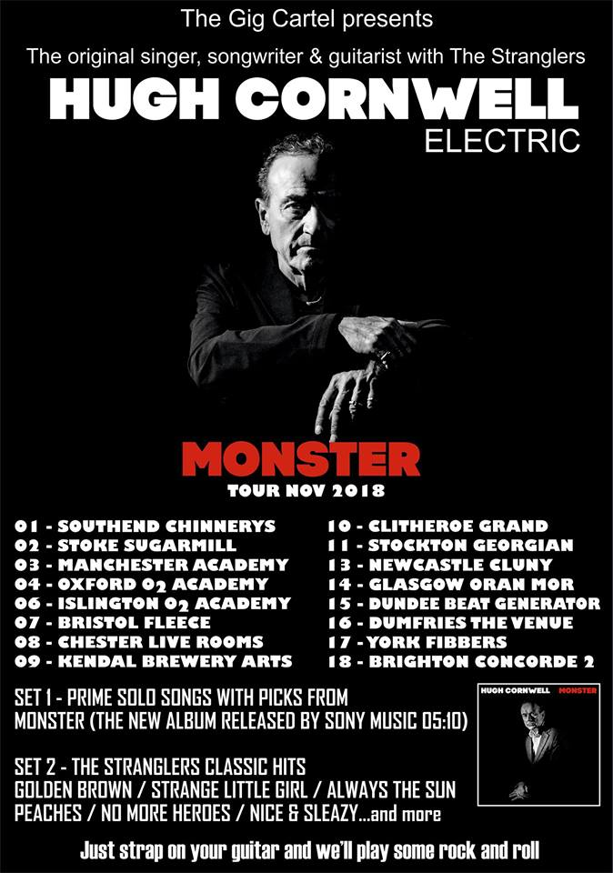Hugh Cornwell at The Fleece - Bristol gig review