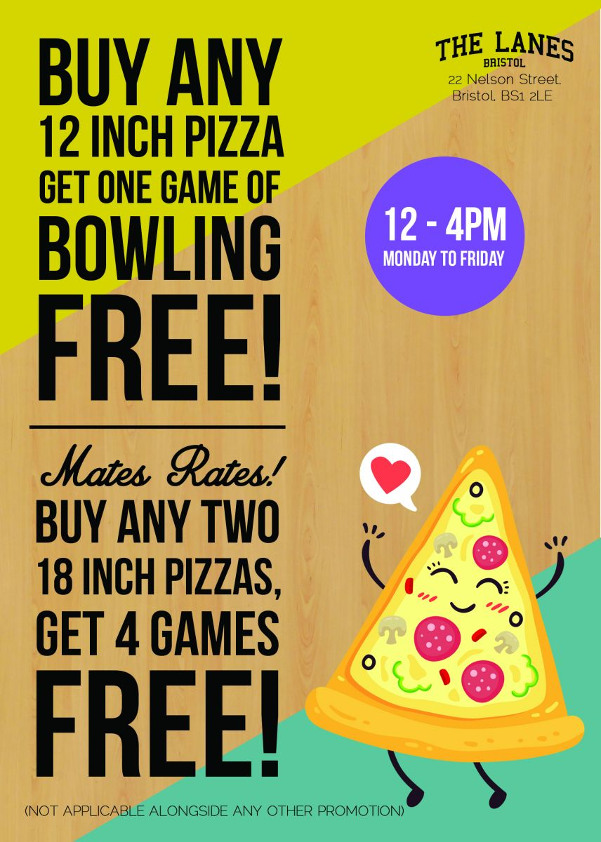 Pizza and free bowling - does it get any better than that?