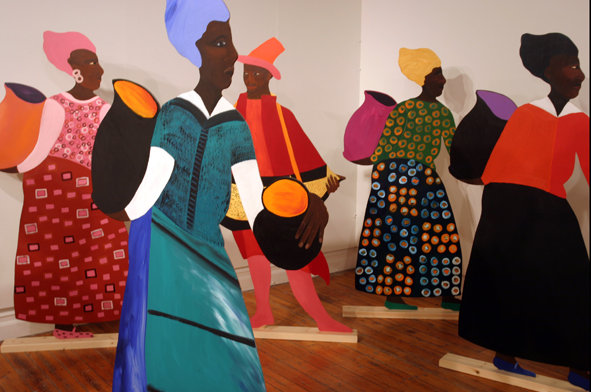 Lubaina Himid, Navigation Charts exhibition running from 20 January to 26 March 2017 at Spike Island in Bristol
